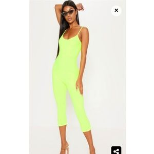 Pretty little  thing neon unitard